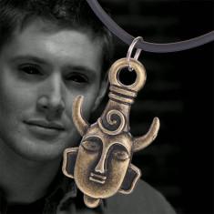 Pandantiv Medalion Lantisor Pentagrama Supernatural demon dean amuleta