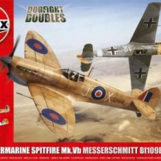 Kit Constructie Avioane Supermarine Spitfire Mk. Vb Si Messerschmitt Bf109e-7 - Set de constructie Airfix