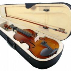 Set vioara clasica normala 4/4 cu toc tip cutie cu maner si arcus