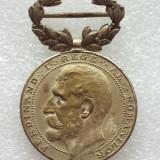 MEDALIE FERDINAND-RASPLATA MUNCII PENTRU CONSTRUCTIUNI SCOLARE-CLS II - Medalii Romania, An: 1923