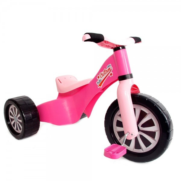 Tricicleta Copii Palau 1598 Din Plastic Roz foto mare