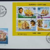 ROMANIA 1992 - C. COLUMB, DESCOPERIREA AMERICII, 1 FDC OBLIT PRIMA ZI - IM 0633