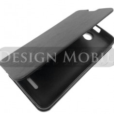 HUSA HTC DESIRE 516 TOC FLIP COVER TIP CARTE NEGRU - Husa Telefon HTC, Piele Ecologica, Cu clapeta