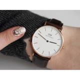 Ceas stil Daniel Wellington Slim negru ceas unisex