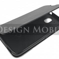HUSA HTC DESIRE 526 TOC FLIP COVER TIP CARTE NEGRU - Husa Telefon HTC, Piele Ecologica, Cu clapeta