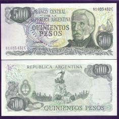 ARGENTINA 500 PESOS 1979- 1982 UNC [1] P-303b.2 - Litera C, necirculata - bancnota america