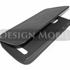 HUSA HTC DESIRE 500 TOC FLIP COVER TIP CARTE NEGRU - Husa Telefon HTC, Piele Ecologica, Cu clapeta