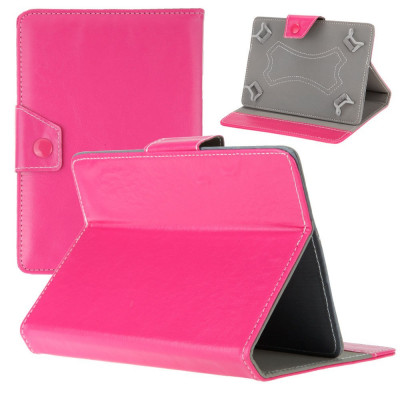 Husa Tableta 8 Inch Model X , Roz Aprins , Tip Mapa , Prindere 4 Cleme C92 foto
