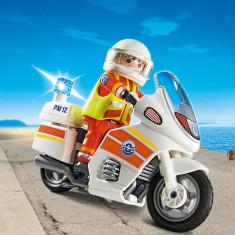 Motocicleta De Urgenta Cu Lumini Playmobil