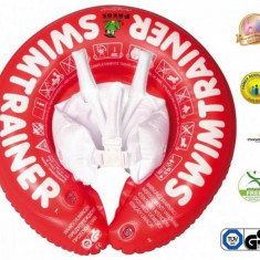 Colac Copii Swimtrainer Classic Rosu, 3 Luni-4 Ani - Colac plaja