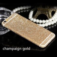 Folie iPhone 6 6S Sticker Diamond Full Body Gold - Folie de protectie Apple