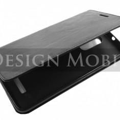 HUSA XIAOMI REDMI NOTE 3 TOC FLIP COVER TIP CARTE NEGRU - Husa Telefon Xiaomi, Universala, Piele Ecologica, Cu clapeta