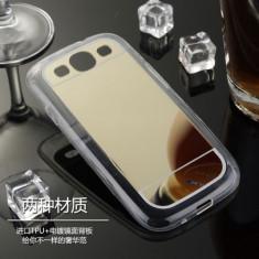 Husa Samsung Galaxy J5 J500 TPU Mirror Gold - Husa Telefon Samsung, Auriu, Gel TPU, Fara snur, Carcasa