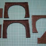 Set gura tunel si parapeti negre ghips scara HO(5501), H0 - 1:87, Accesorii si decor
