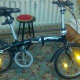 Bicicleta pliabila - Bicicleta pliabile, 20 inch, Numar viteze: 7, Aluminiu, Negru