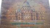 Cutie din lemn pentru bijuterii Budapesta executata si pictata manual Vintage