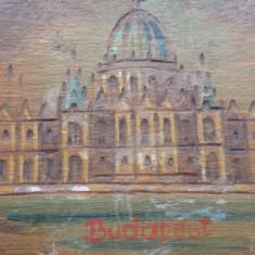 Cutie din lemn pentru bijuterii Budapesta executata si pictata manual Vintage - Cutie Bijuterii