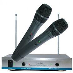 Set 2 x Microfoane Wireless WVNGR VHF Doua canale Microfon Profesional