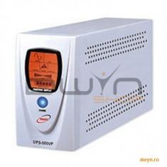 UPS V-mark-1000VP, 1000VA, 8 min back-up (half load), LCD Display, Power Management Software & Cable