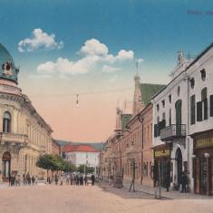 DEJ, STRADA AVRAM IANCU, MAGAZINE - Carte Postala Transilvania dupa 1918, Necirculata, Printata