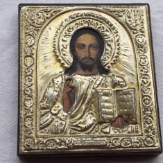 ARGINT Icoana Isus Hristos executata manual avand o patina frumoasa - Icoana din metal