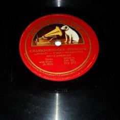Disc bachelita patefon - Chanson Hindoue / Chanson Arabe - Muzica Populara, VINIL