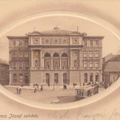 TIMISOARA, TEATRUL FERENCZ JOZSEF, TRAMVAI - Carte Postala Banat 1904-1918, Necirculata, Printata