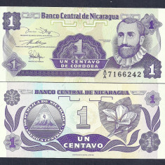 NICARAGUA 1 CENTAVO 1991 UNC [1] P-167a.1, necirculata - bancnota america