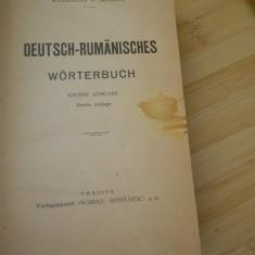 DICTIONAR GERMAN-ROMAN - SCHROFF - 1922
