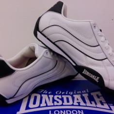 Adidasi Lonsdale originali piele. Curier gratuit - Adidasi barbati Lonsdale, Marime: 43, 44.5, Culoare: Alb, Piele naturala