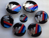 NOU! Set 7 buc. Embleme M Tech Bmw . Power tunning paket auto sport