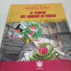 LE AVVENTURE DI GERONIMO STILTON IL TEMPIO DEL RUBINO DI FUOCO IN LIMBA ITALIANA - Carte educativa