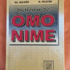Dictionar lucman DE OMONIME - BULGAR, FELECAN