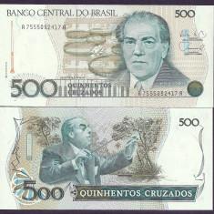 BRAZILIA 500 CRUZADOS 1987, UNC [1] P-212d, necirculata - bancnota america