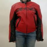 Geaca moto Dainese din piele, unisex, rosie, Tribal - marine 50