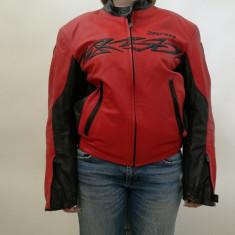 Geaca moto Dainese din piele, unisex, rosie, Tribal - marine 50 - Imbracaminte moto, Geci