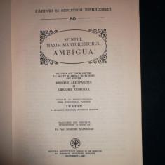 Sfantul Maxim Marturisitorul- Ambigua/ PSB 80 - Carti ortodoxe