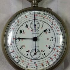 AURAL - AURICOSTE - CRONOGRAF -ELVETIAN - MILITAR SI PENTRU CURSE AUTO- RARITATE - Ceas de buzunar vechi