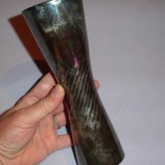 Vaza sticla  acoperit cu argint 1000