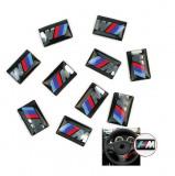 2x Sticker adeziv volan roata janta logo emblema 3D BMW M Series M1 M3 M5 M6