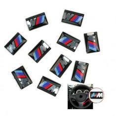 Sticker adeziv volan logo emblema 3D BMW M Series M1 M3 M5 M6