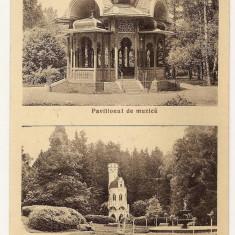 Cp Vatra Dornei Izvorul Sentinela - Pavilionul de Muzica 1935 - Carte Postala Bucovina dupa 1918, Necirculata, Fotografie