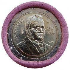 ITALIA 2 euro comemorativa 2010- CAVOUR, UNC, Europa, Cupru-Nichel
