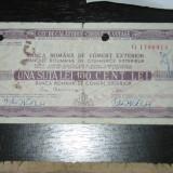 CEC de calatorie 100 lei Banca de comert exterior 1972