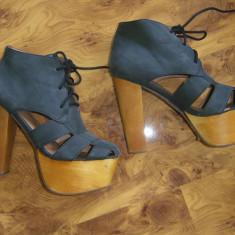 Sandale JEFFREY CAMPBELL marimea 37 purtate de vedete (DEMI LOVATO in foto) - Sandale dama, Culoare: Din imagine, Piele naturala