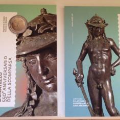 SAN MARINO 2 euro comemorativa 2016 -DONATELLO (blister), Europa, Cupru-Nichel