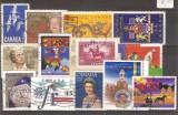 Lot timbre Canada, stampilate, anii '70 - 2000, Stampilat