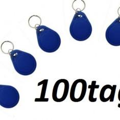 Cartele Acces TAG RFID Pachet 100 Buc Clonabile - Interfon