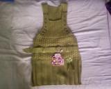 Sarafan verde tricotat cu fir lurex