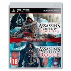 Assassin's Creed 4 Black Flag Si Assassin's Creed Rogue Compilation Ps3 - Jocuri PS3 Ubisoft, Actiune, 18+